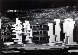 Stage set for King Oedipus, Salzburg, 1965