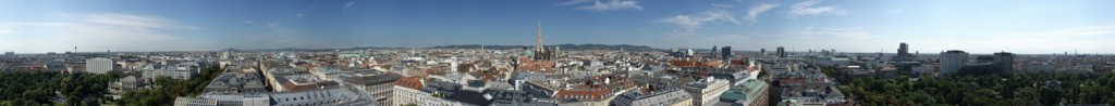View over Vienna from Hotel Am Parkring