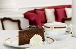 Original Sacher-Torte served-Copyright Hotel Sacher Wien
