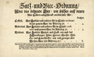 Viennese licensing law for beer 1697 - Copyright Imagno-Austrian Archives
