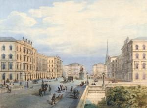 Moriz von Löhr, Project Schwarzenbergplatz, 1861, © Wien Museum