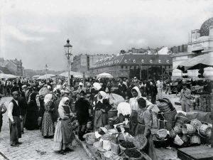 Naschmarkt at about 1900 (c) Marktamtsmuseum