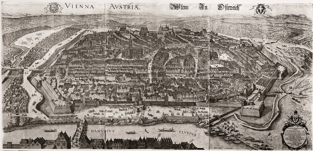 View of Vienna from the north, 1609 (WStLA)