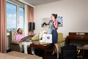 Relax in your hotel room after the shopping tour