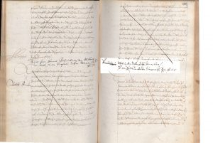 Original title register from the year 1600